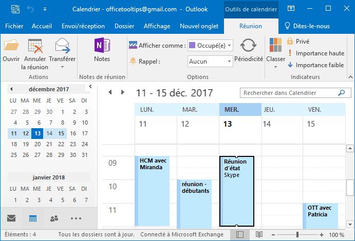 Comment accepter une réunion dans Outlook?