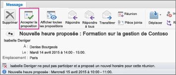 Comment accepter une réunion sur Outlook après l'avoir refusé ?